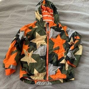 Boden star camo jacket size 5 to 6 years